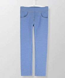 Cherry Crumble California Full Length Solid Jeggings - Blue