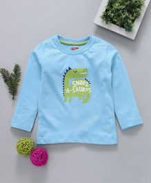 Babyhug Full Sleeves Tee Snooasaurus Graphic Print - Blue