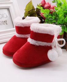 Wow Kiddos Ankle Length Booties - Red