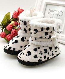 Wow Kiddos Printed Ankle Length Booties - White