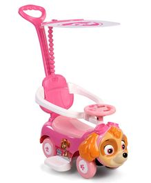 Paw Patrol Skye Manual Push Ride-On Car With Parent Push Handle - Pink
