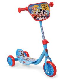 Mickey Mouse & Friends Three Wheel Scooter - Blue & Red