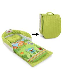 Folding Bed With Pillow Multi Print - Green