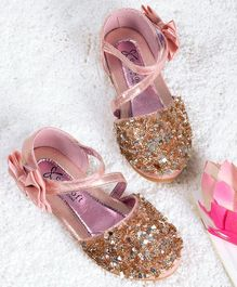 Kidlingss Glitter Bellies With Bow Applique Strap - Pink
