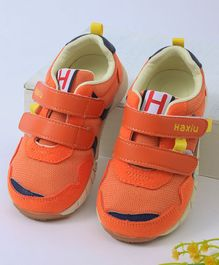 Kidlingss Double Velcro Sports Shoes - Orange