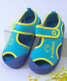 Kidlingss Monkey Print Sandals - Blue