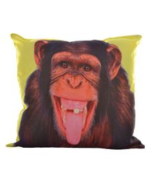 Twisha Nx Cushion Monkey Print - Brown