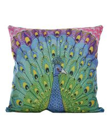 Twisha Nx Cushion Peacock Print - Green