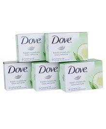 Dove Fresh Moisture Beauty Bathing Soap Pack of 5 - 75 gm