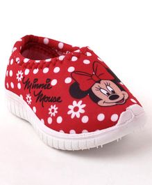 Disney Minnie Mouse Polka Dotted Slip On Shoes - Red