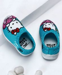 Disney Hello Kitty Polka Dotted Slip On Shoes - Blue