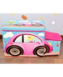 Quirky Monkey Pink Car Foldable Storage Box - Pink