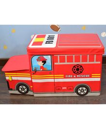 Quirky Moneky Red Fire Engine Foldable Storage Box - Red