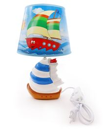 Quirky Monkey Nautical Lamp - Blue White
