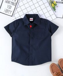 Babyhug Half Sleeves Solid Shirt - Navy Blue