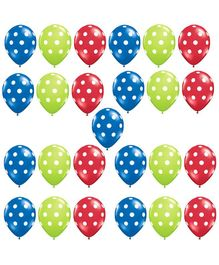 Party Propz Latex Balloons Red Green Blue - 25 Balloons