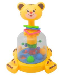 Emob Push N Spin Tiger Spinner Toy - Yellow
