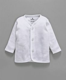 Child World Full Sleeves Fleece Vest - White