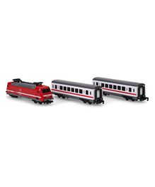 Dickie City Train Toy Car White & Red - Set Of 3 Pieces