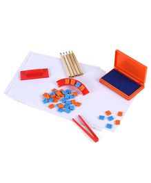 Art & Fun Letter Stamp Set - Red & Blue