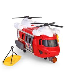 Dickie Rescue Helicopter With Stretcher - Red & Yellow