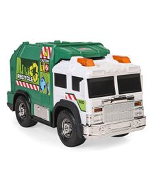 Dickie Battery Operated Recycle Truck With Dustbin - Green & Yellow