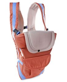 3 Way Baby Carrier - Orange & Beige