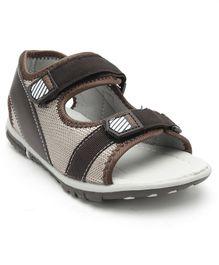 dba35c24bcd38c Cute Walk by Babyhug Sandals With Dual Velcro Closure - Grey