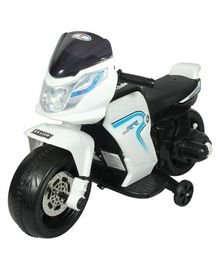 HLX NMC Super Racer Battery Operated Ride On Bike - White