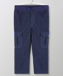 Cherry Crumble California Solid Full Length Cargo Bottom - Navy
