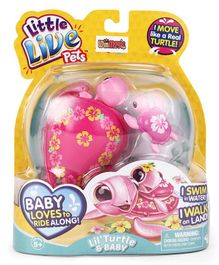 Little Live Pets Turtle Toy - Pink