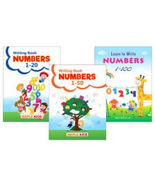 Writing Book Numbers Set of 3 Books - English