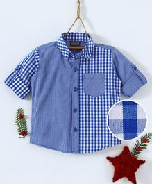Rikidoos Checks Full Sleeves Shirt - Blue