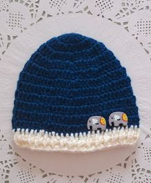 Buttercup From Knitting Nani Elephant Applique Cap - Dark Blue