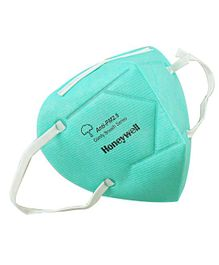 Honeywell PM 2.5 Anti Pollution Foldable Face Mask Green - Pack of 10