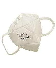 Honeywell PM 2.5 Anti Pollution Foldable Face Mask White - Pack of 10