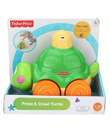 Fisher Price Press And Crawl Turtle Toy - Green