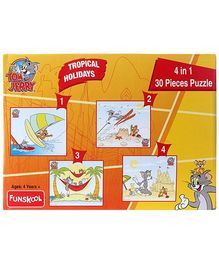 MGM Tom & Jerry -  4 In 1 Puzzle Tropical Friends