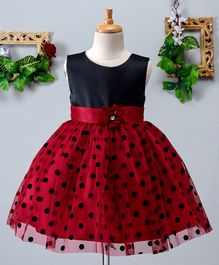 Mark & Mia Polka Dot Print Sleeveless Dress - Red