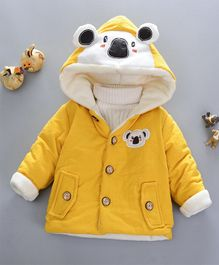 Pre Order - Awabox Bear Design Hooded Jacket - Yellow
