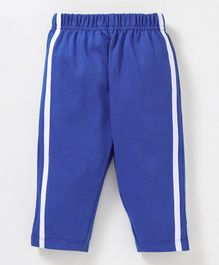 Babyhug Full Length Solid Cotton Track Pant - Royal Blue