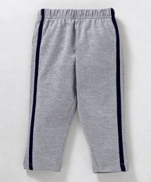 Babyhug Full Length Solid Cotton Track Pant - Grey