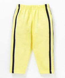 Babyhug Full Length Solid Cotton Track Pant - Yellow