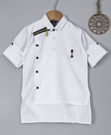 Enfance Solid Full Sleeves Kurta - White