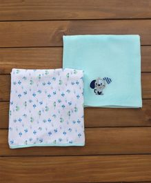 Owen Thermal Blanket Multi Print Pack of 2 - Blue