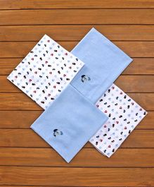 Owen Receiving Blankets Vehicle & Puppy Design Pack of 4 - Blue