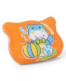 Baby Bath Sponge Frog Design - Orange