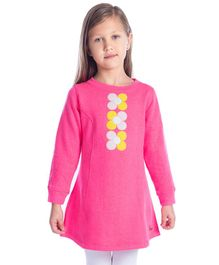 Cherry Crumble California Full Sleeves Floral Tunic - Pink