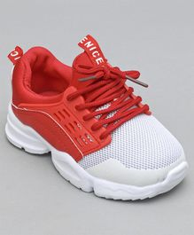 Cute Walk by Babyhug Dual Tone Sport Shoes - Red & White