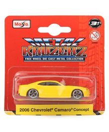 Bburago Die Cast Chevrolet Camaro Toy Car - Yellow